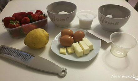 Ingredienti pronti e pesati per la creazione del ciambellone