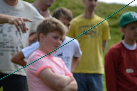 Jungen im Sommercamp