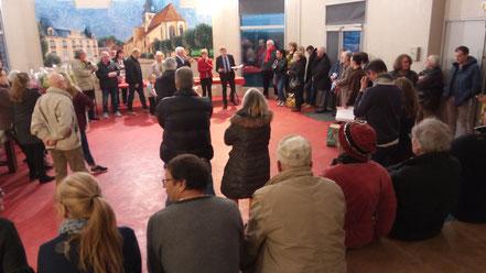 Une assemblée très à l'écoute de notre maire Jean-François Dufour.