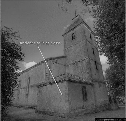 école de ladevèze-Rivière salle de classe 1850 autrefois