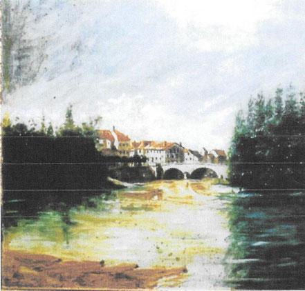Auguste Labadie  peinture tableau plaisance du gers
