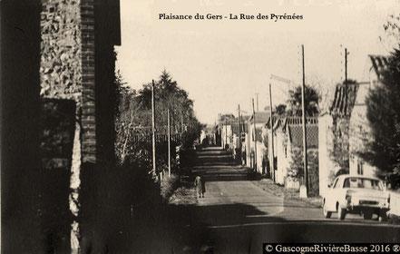 Rue des Pyrénées Quartier Rapine 1970 Plaisance du Gers