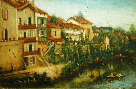 Jean-Baptiste Duviau peinture tableau plaisance du gers