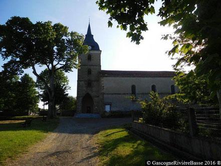 Eglise de Saint-Laurent de Théus Ladevèze-Rivière Gers