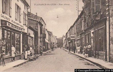 Rue Adour Plaisance du Gers Grand Rue Autrefois boutiques magasins
