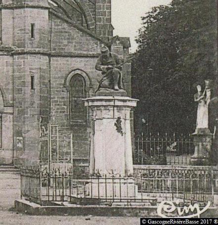 Monument du Souvenir Français Plaisance du Gers 1897 Baux Antonin