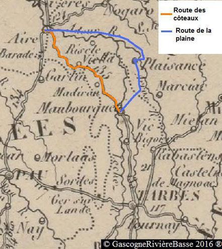 Route d'Aire sur l'Adour à Maubourguet