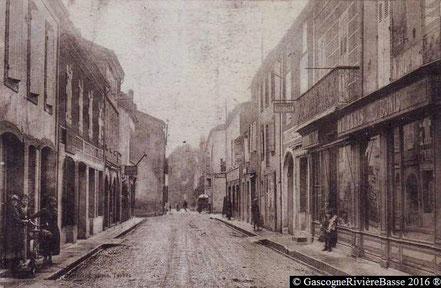 Rue Adour Grand Plaisance du Gers boutique magasin autrefois