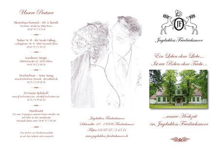 Hochzeit im Jagdschloss Friedrichsmoor bei Parchim