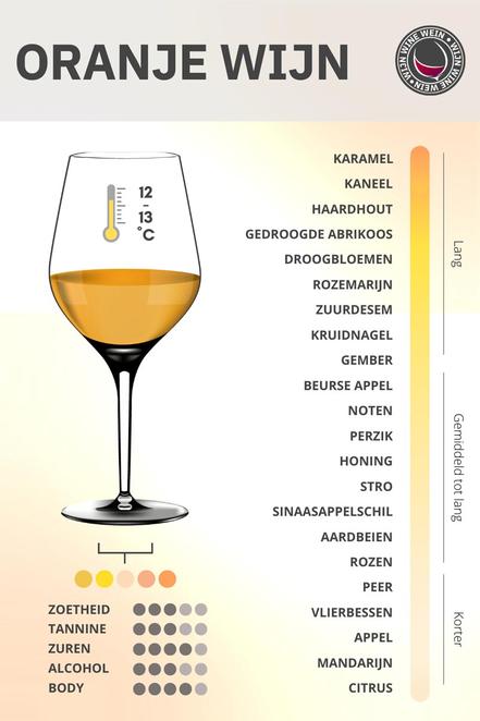 Oranje wijn infographic