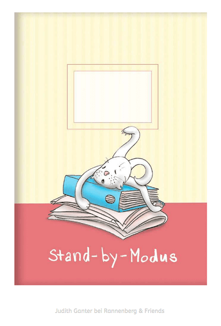 Stand-by-Modus - Müder Hase, Illustration & Text Judith Ganter, Hamburg - Verlag Rannenberg & Friends, Kladden, Notizhefte