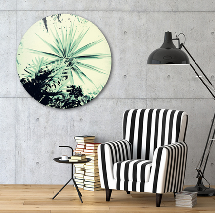 Exclusive Edition of Abstract Vintage Garden Disk Print only on curioos shop