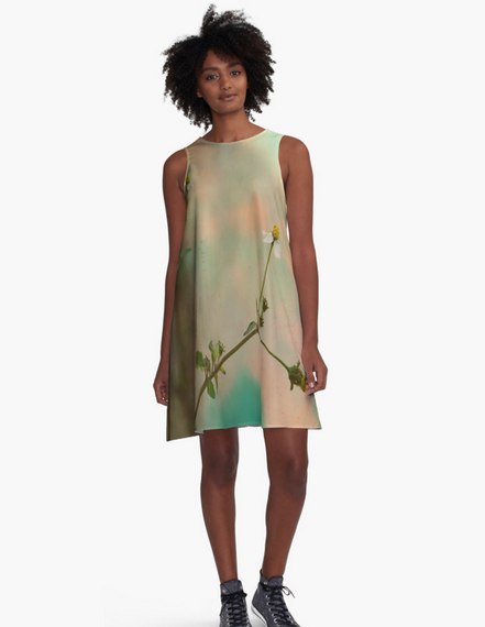 """Simple Flowers"" A-Line Dresses in my Redbubble shop"
