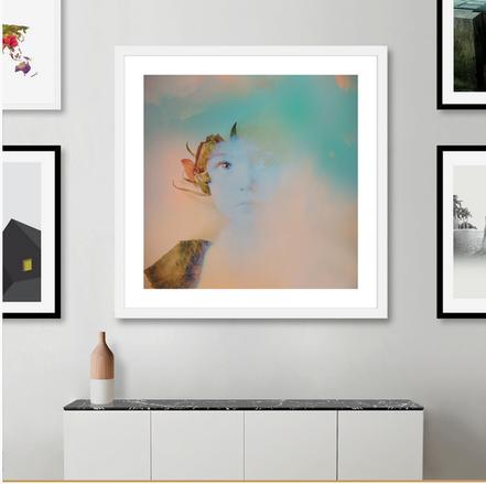 "Artistic Portrait ""Memory04"", shop as art print, framed art print, canvas print, Acrylic Print, Aluminium Print and Disk Print. Textured and Vintage Portrait"
