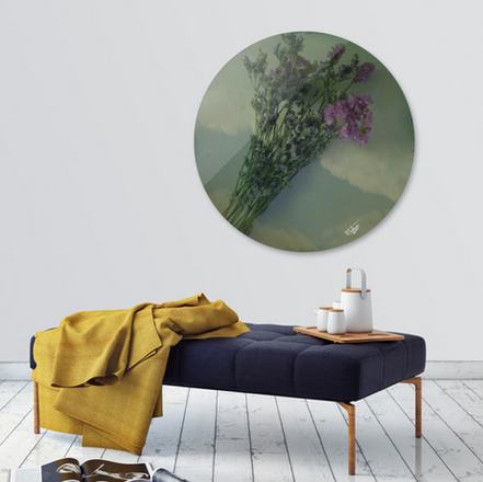 Exclusive Edition of Lilacs Disk Print only on curioos shop