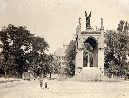 Preußen-Denkmal, um 1907, Stadtarchiv Karlsruhe 8/PBS oXIVb 352.