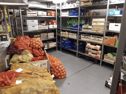This is only one of the four storage rooms on R/V Sonne. Welcome to a Veggie's paradise!