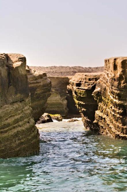 Cala a Hormozgan, Illa Hengam, l'Iran.