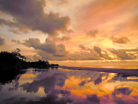 Cala Sunset a Bome, Bata, Guinea Ecuatorial.
