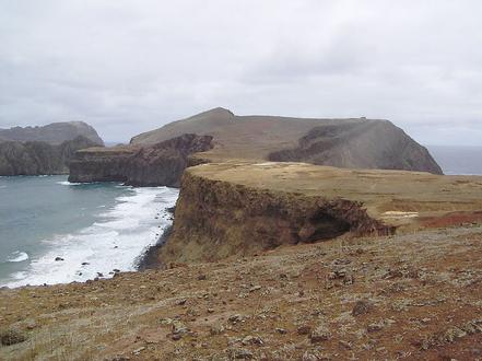 Cala del Arenal, illa Robinson Crusoe, Valparaiso, Xile.