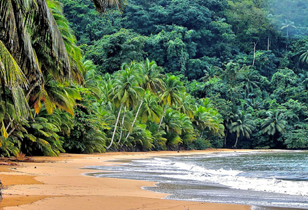 Cala Pague, Santo Tome y Principe. Golf de Guinea.