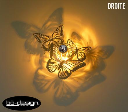 luminaire design,deco papillon,luminaire papillon,deco luminaire,deco design,decoration restaurant,decoration luxe,luminaire contemporain,applique murale,lampe design,applique murale interieur,applique murale salon,luminaire pour interieur,butterfly deco