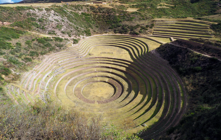 Above: Ruin of Ollantaytambo, Below: Ruin of Moray