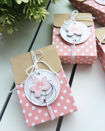 Stampin Up Goodie Verpackung Mitbringsel Tüte Kleinigkeit Kirschblüte Designerpapier