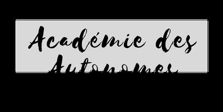 Logo PNG officiel noir et blanc Académie des Autonomes soutien aux travailleurs autonomes