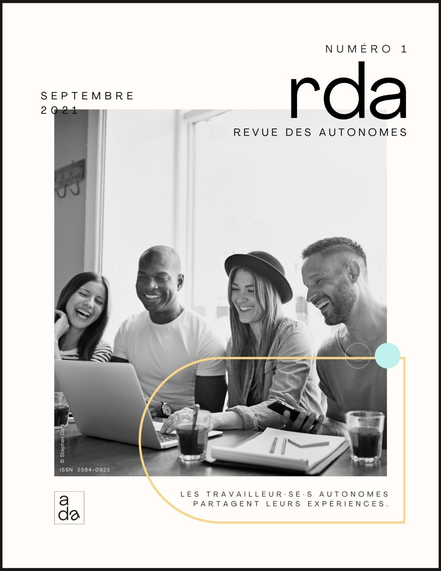 Couverture de la première revue pour travailleur autonome RDA #1 par Académie des Autonomes