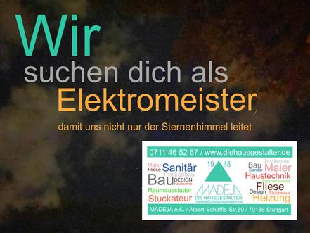 Elektromeister gesucht in Stuttgart MADEJA - DIE HAUSGESTALTER