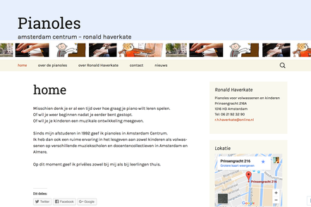 website pianoles ronald haverkate amsterdam