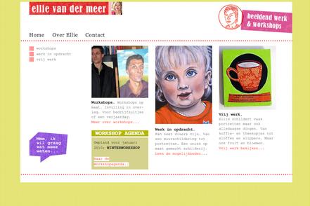 website ellie van der meer portretten