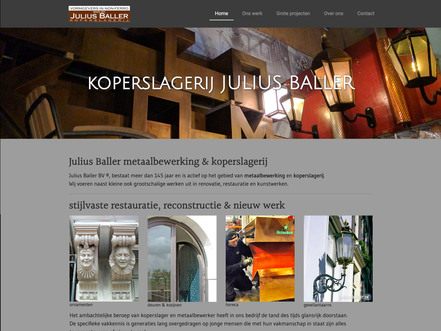website koperslagerij julius baller amsterdam