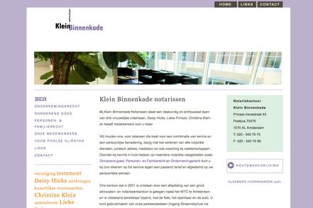 website notarissen klein binnenkade amsterdam