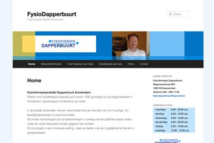 website fysiotherapie amsterdam