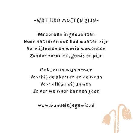 gedichtje over het gemis van een overleden kindje