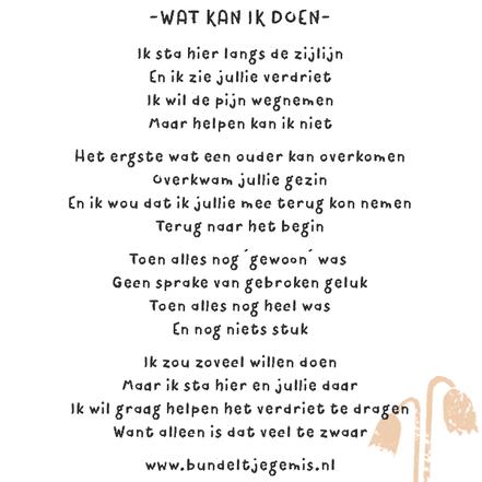gedicht over het gevoel als iemand in je omgeving een kindje verliest