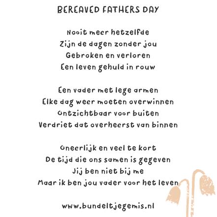 Elke laatste zondag van augustus is het bereaved fathersday