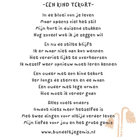 Gedicht overleden kind