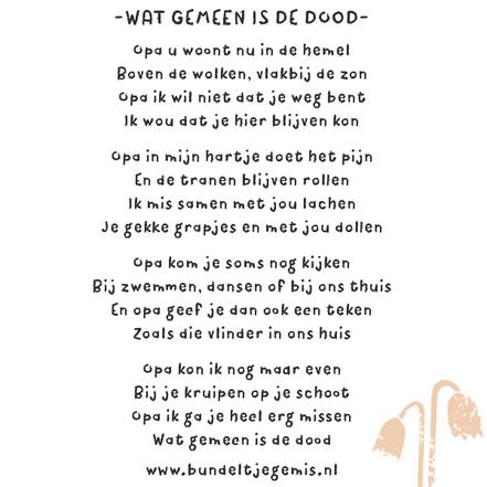 gedicht voor overleden opa