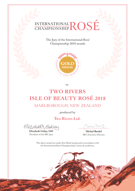 "Gold für den Two Rivers Rose ""Isle of Beauty 2018"""