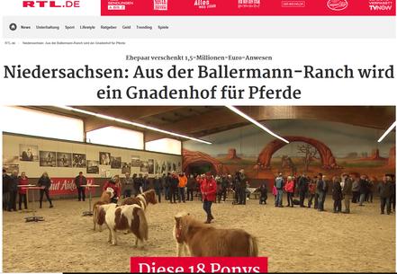 """Ein RTL-Bericht über den """"Ballermann Gnadenhof"""" von GUT AIDERBICHL in Niedersachsen"""