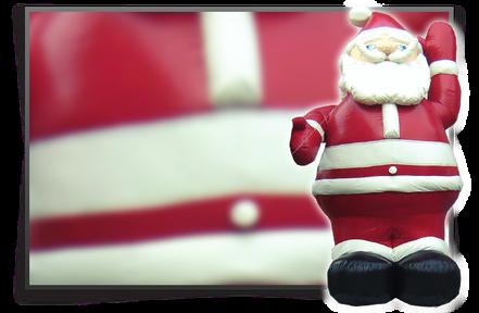 Aufblasbaerer Weihnachtsmann günstig mieten in Bonn/Köln/Bornheim
