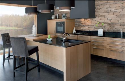Cuisine quip e gaillon cuisine home concept for Cuisine equipee en bois