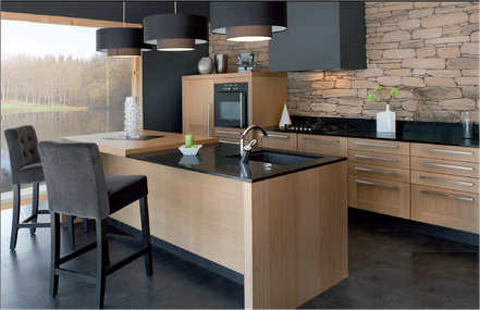 Cuisine quip e rouen cuisine home concept for Cuisine equipee bois
