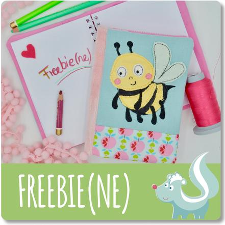Stickdatei Freebie von Sticktier, Applikation Biene, kostenlose Stickdatei