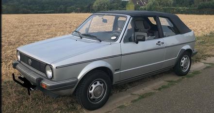 VW Golf cabrio 1600 de 1984