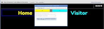apertura pagina Tabellone personalizzato con controlli su popup