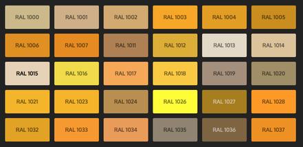 GRUPO PAVIN - Suelos y pavimentos industriales   Carta de colores RAL Classic - Tonos amarillos